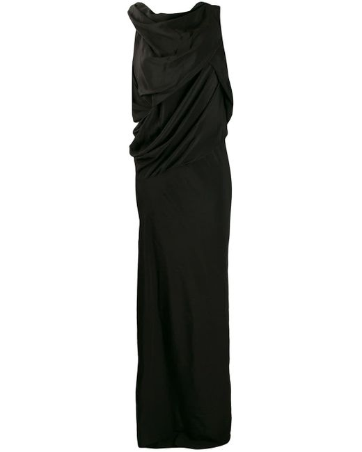 Rick Owens ドレープ ロングドレス Black