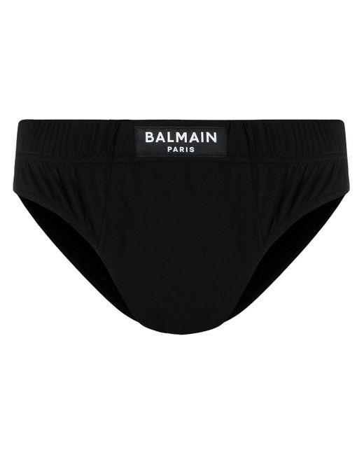 Calzoncillos con parche del logo Balmain de hombre de color Black