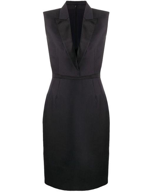 Alexander McQueen テーラードラペル ドレス Black