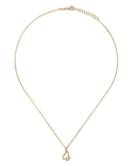 AS29 Four ダイヤモンド ネックレス 14kイエローゴールド Metallic