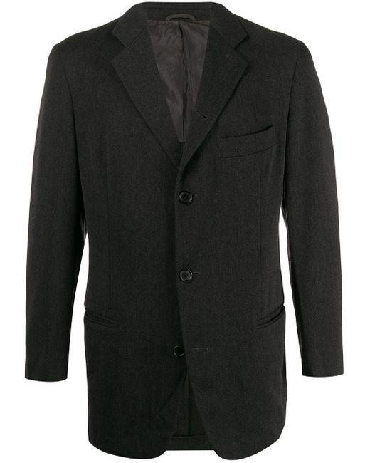 メンズ Giorgio Armani Pre-Owned テーラードジャケット Black