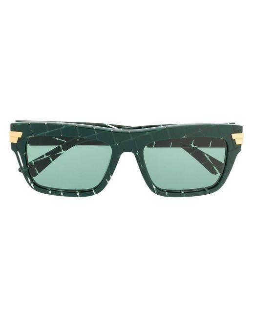 Bottega Veneta スクエアフレーム サングラス Green