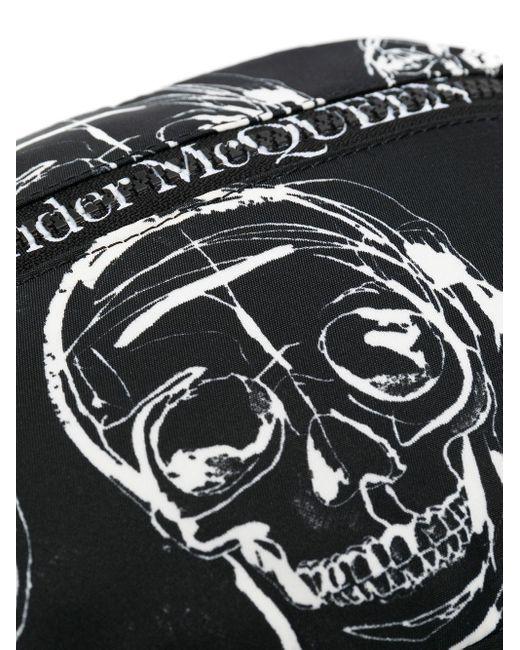 Поясная Сумка С Принтом Alexander McQueen для него, цвет: Black