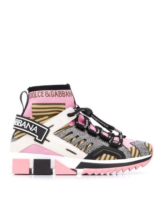 Dolce & Gabbana ソレント ハイカットスニーカー Pink