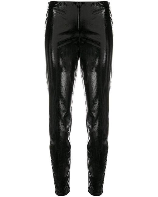 FEDERICA TOSI - Black Vinyl Skinny Trousers - Lyst