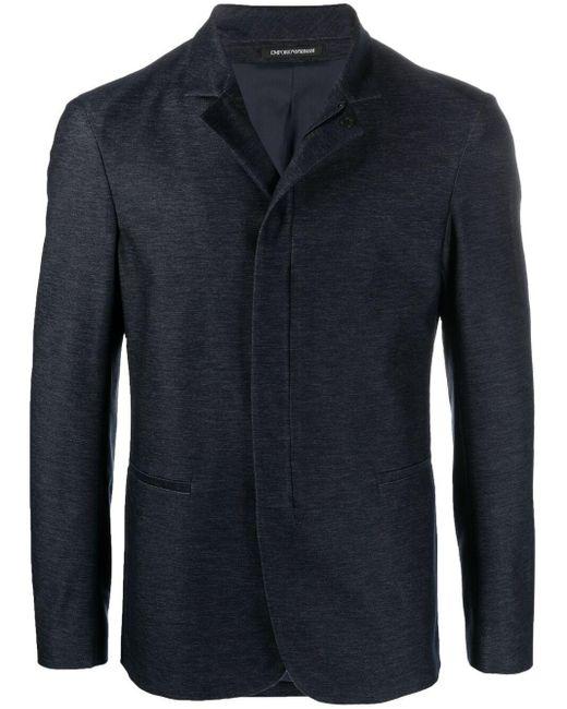 Пальто На Молнии Emporio Armani для него, цвет: Blue