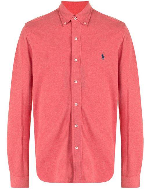 メンズ Polo Ralph Lauren ロゴ シャツ Pink
