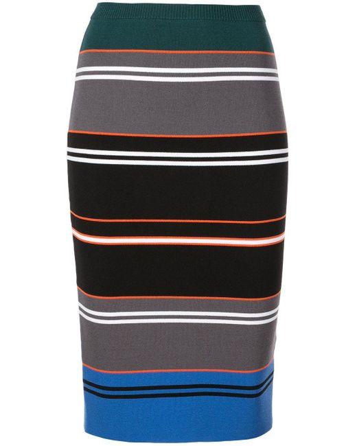 Nicole Miller ストライプ ペンシルニットスカート Multicolor