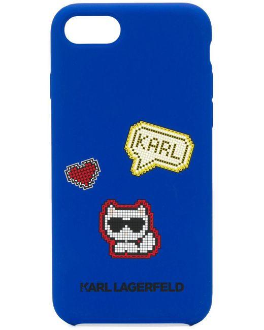 Karl Lagerfeld Iphone 8 ケース Blue
