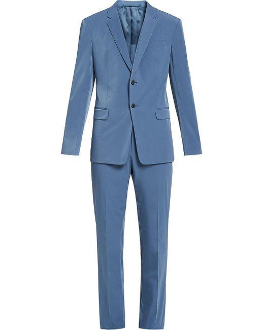 メンズ Prada テクニカル シングル スーツ Blue