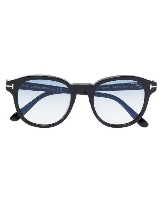 Tom Ford Black Ft0752 Round-frame Sunglasses for men