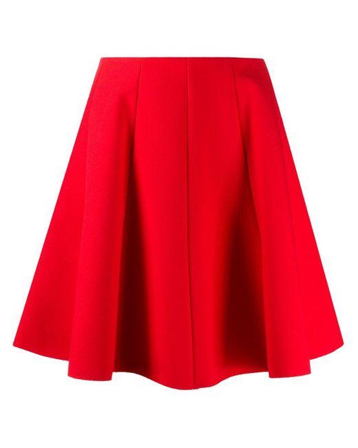 MSGM ハイウエスト スカート Red