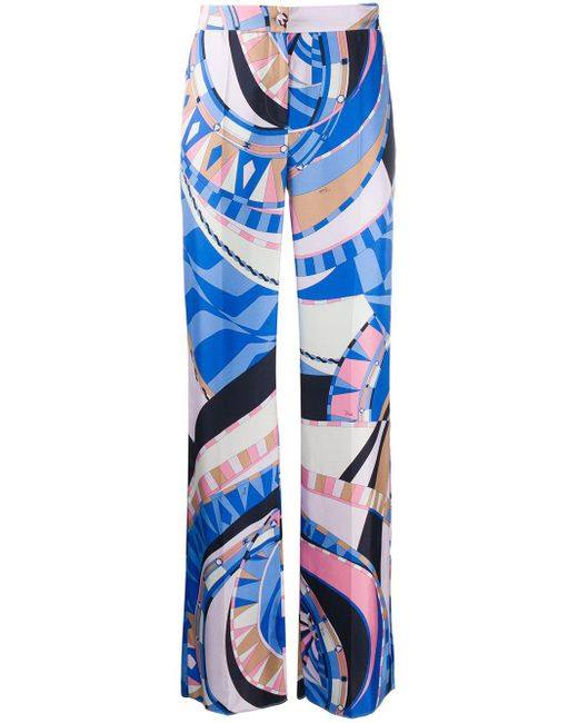 Брюки С Принтом Wally Emilio Pucci, цвет: Blue