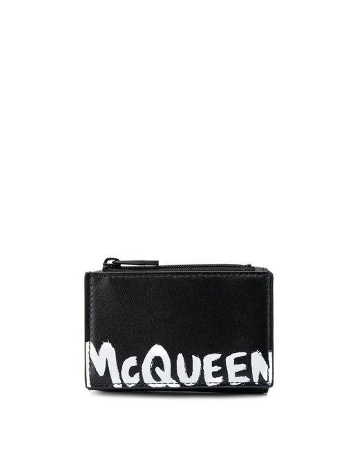 メンズ Alexander McQueen 三つ折り財布 Black