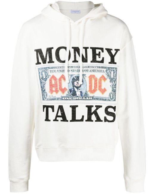 """Ih Nom Uh Nit Hoodie mit """"Money Talks""""-Print in White für Herren"""