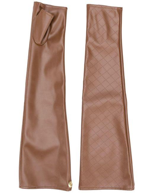 Перчатки-митенки С Перфорацией Marlies Dekkers, цвет: Brown
