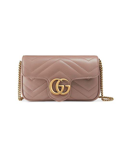 Gucci Multicolor GG Marmont Matelassé Leather Super Mini Bag