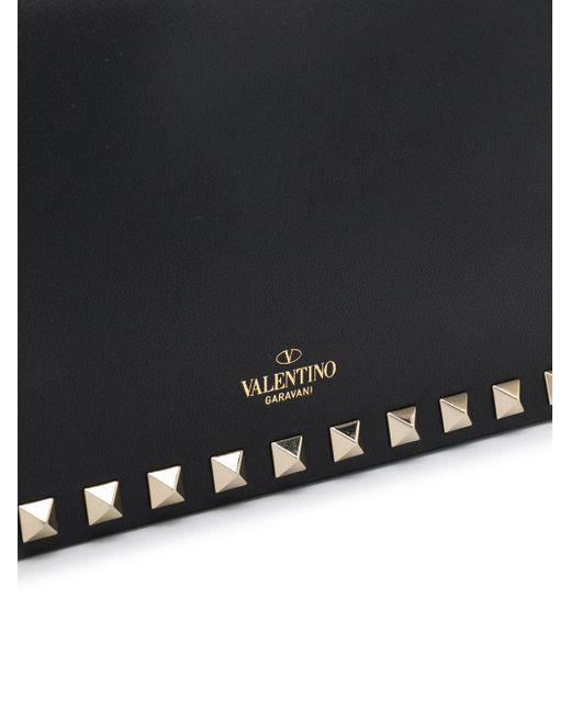Valentino Garavani ロックスタッズ クラッチバッグ Black