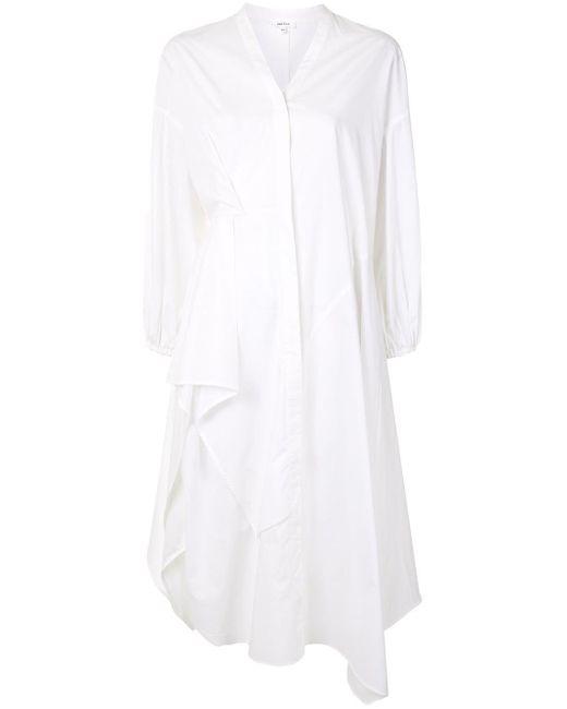 Enfold ドレープ シャツドレス White