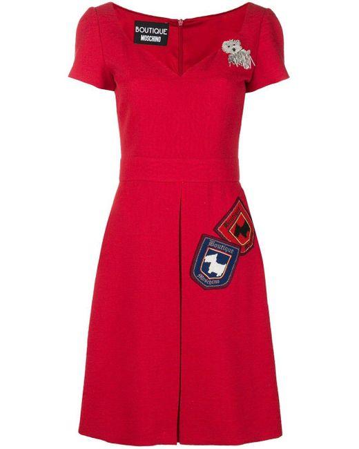 Boutique Moschino ジャカード ドレス Red