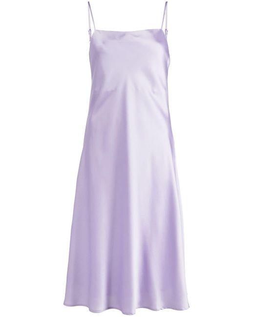 Apparis スクエアネック ドレス Purple