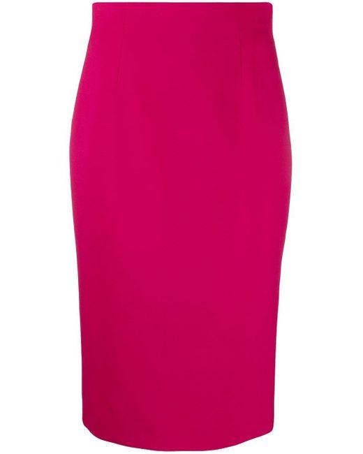 Юбка-карандаш С Завышенной Талией Alexander McQueen, цвет: Pink