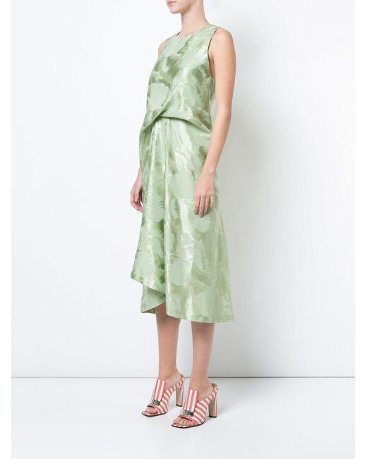Sies Marjan ギャザー ドレス Green