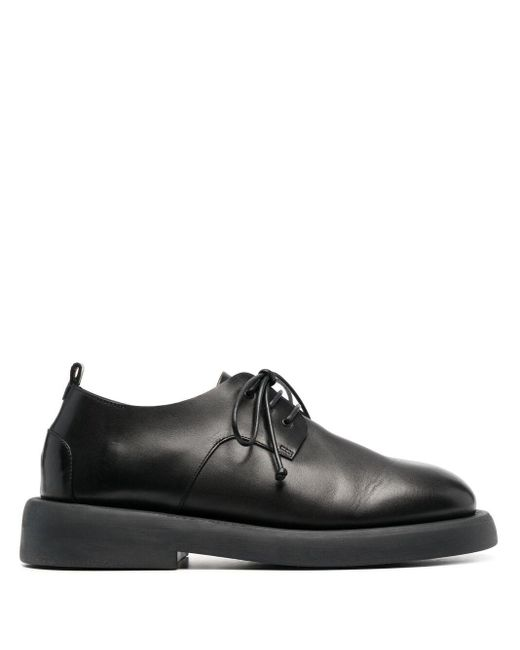 Marsèll Black Lace-up Leather Oxfords