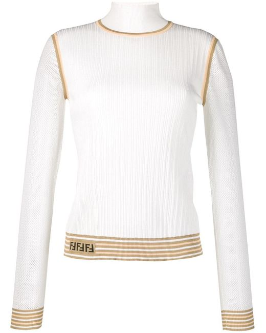 Fendi ロゴ セーター White