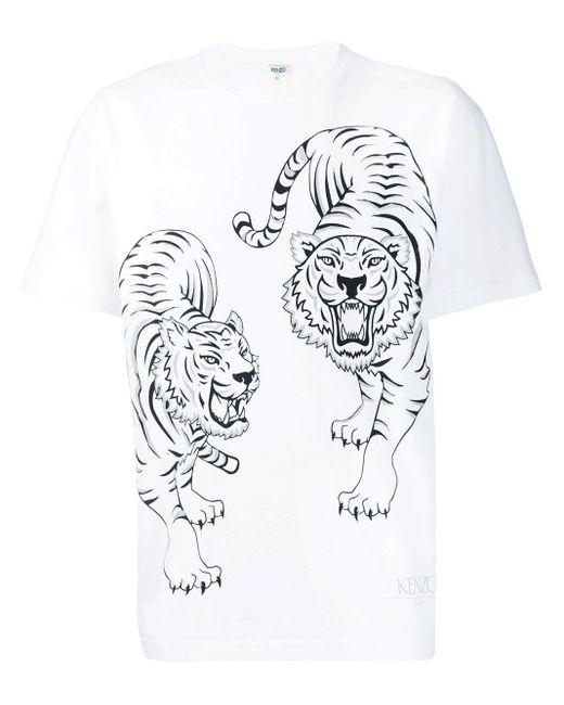 メンズ KENZO プリント Tシャツ White