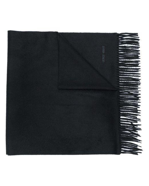 メンズ Giorgio Armani ロゴ スカーフ Black