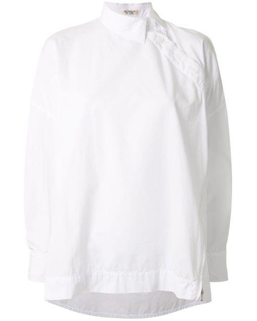 Yohji Yamamoto アシンメトリー シャツ White