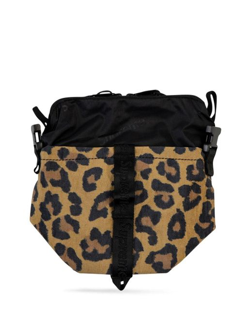 Supreme Brown Leopard Neck Pouch