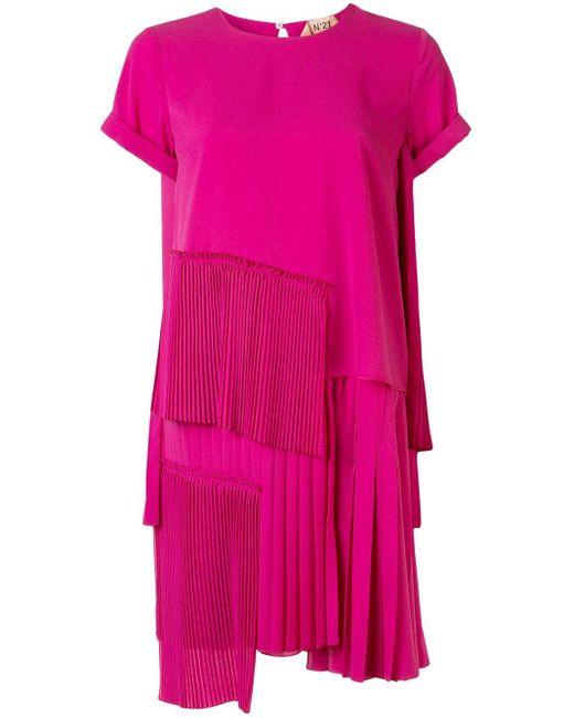 N°21 プリーツパネル ドレス Pink