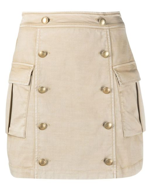 Pinko Natural Cargo Mini Skirt