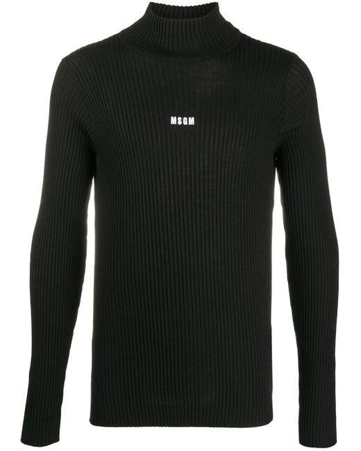 メンズ MSGM ハイネック セーター Black