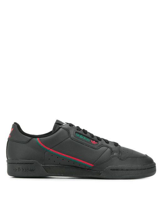 メンズ Adidas ブラック And レッド コンチネンタル 80 スニーカー Black