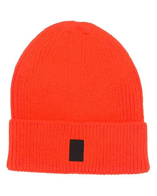 メンズ Marcelo Burlon Cross ロゴ ビーニー Orange