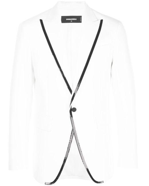 メンズ DSquared² シングルジャケット White