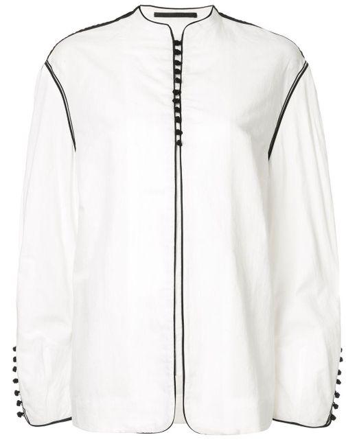 Haider Ackermann オーバーサイズボタン ジャケット White
