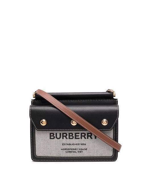Мини-сумка Через Плечо С Узором Horseferry Burberry, цвет: Black