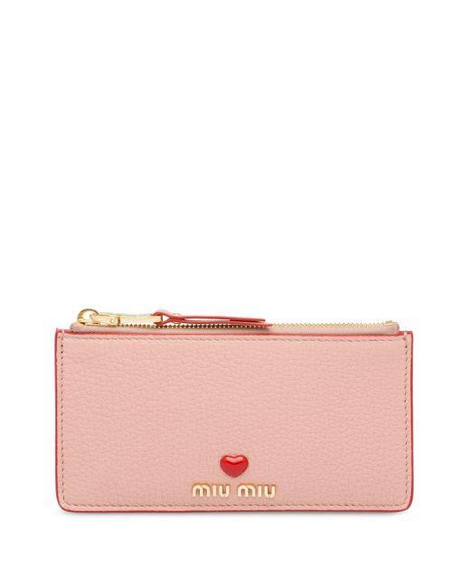 Miu Miu ハートロゴ クラッチバッグ Pink