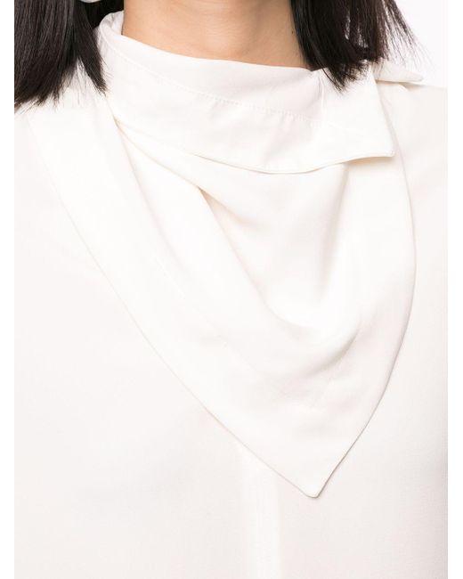 3.1 Phillip Lim スカーフネック ブラウス White