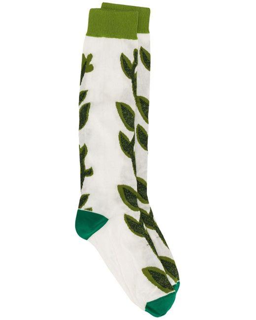 Marni リーフ靴下 Green