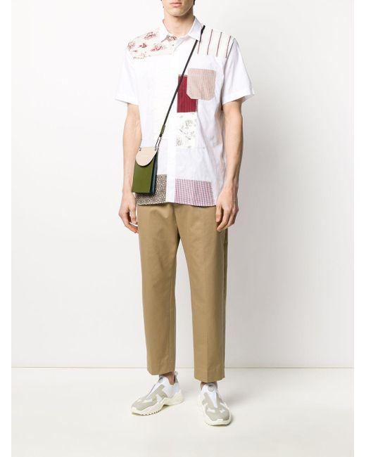 メンズ Junya Watanabe パッチワーク プリント シャツ White