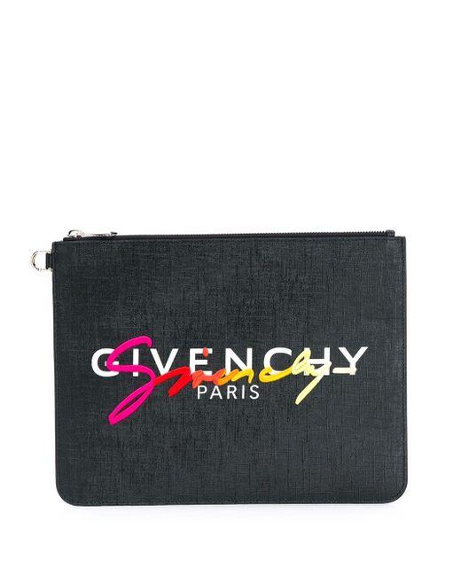 Клатч На Молнии С Вышитым Логотипом Givenchy для него, цвет: Black