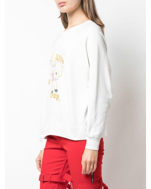 Marc Jacobs White Sweatshirt Collaboration Magda Archer