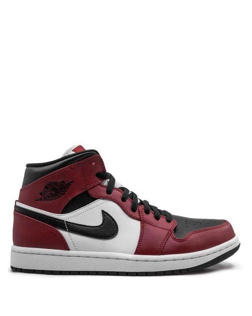 Nike Zapatillas Air 1 Mid de hombre de color rojo