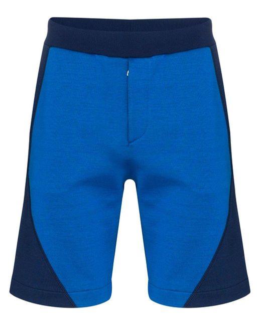 メンズ Alexander McQueen ロゴ トラックショーツ Blue