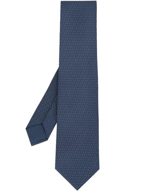 Hermès Blue Pre-owned H Print Tie for men